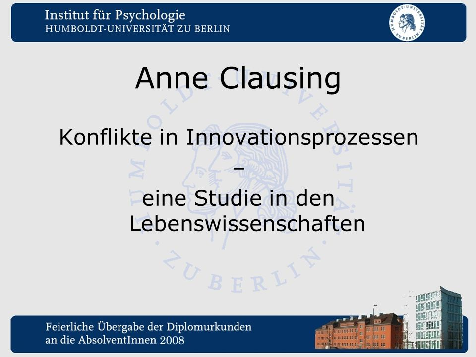 Anne Clausing Konflikte in Innovationsprozessen –