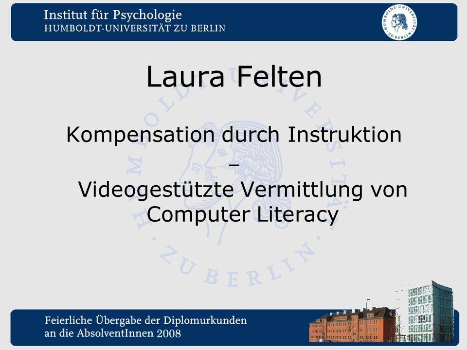 Laura Felten Kompensation durch Instruktion