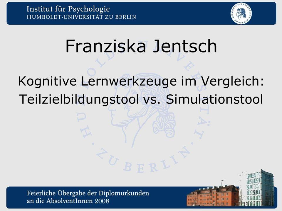 Franziska Jentsch Kognitive Lernwerkzeuge im Vergleich: