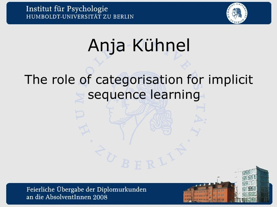 The role of categorisation for implicit sequence learning