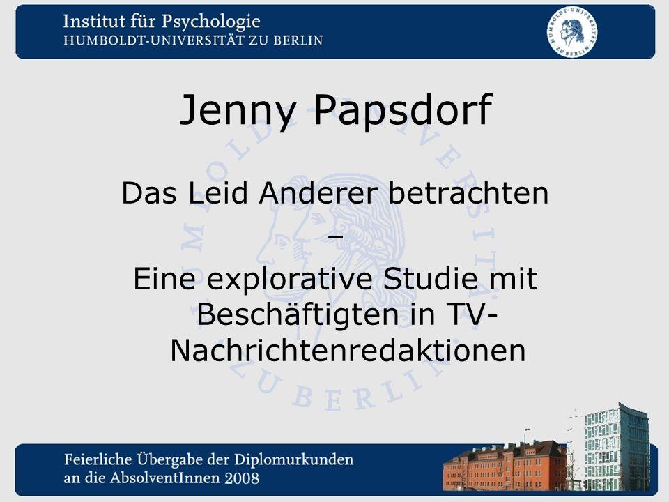 Jenny Papsdorf Das Leid Anderer betrachten –