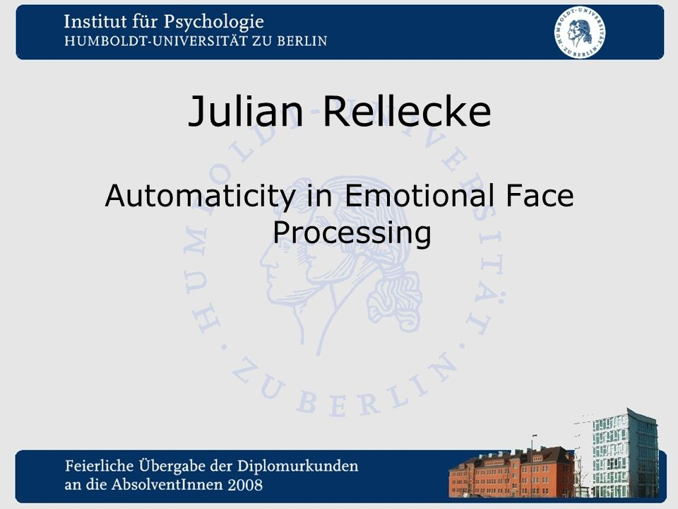 Automaticity in Emotional Face Processing