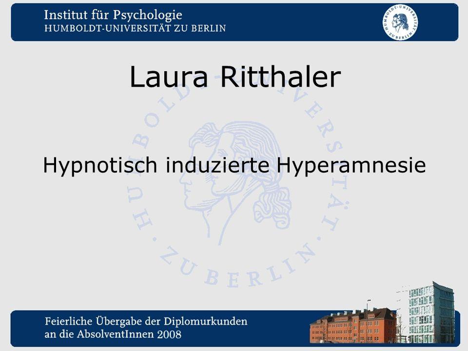 Hypnotisch induzierte Hyperamnesie