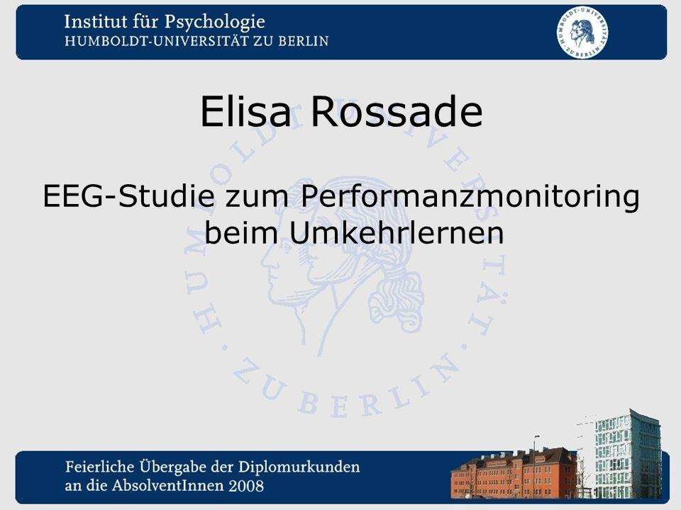 EEG-Studie zum Performanzmonitoring beim Umkehrlernen