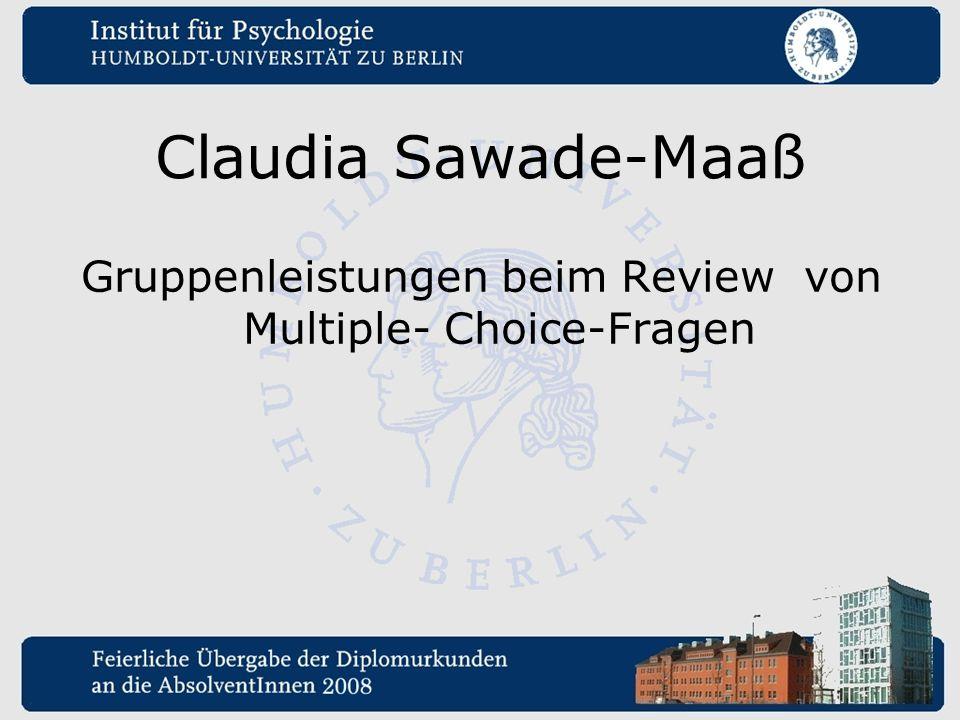 Gruppenleistungen beim Review von Multiple- Choice-Fragen