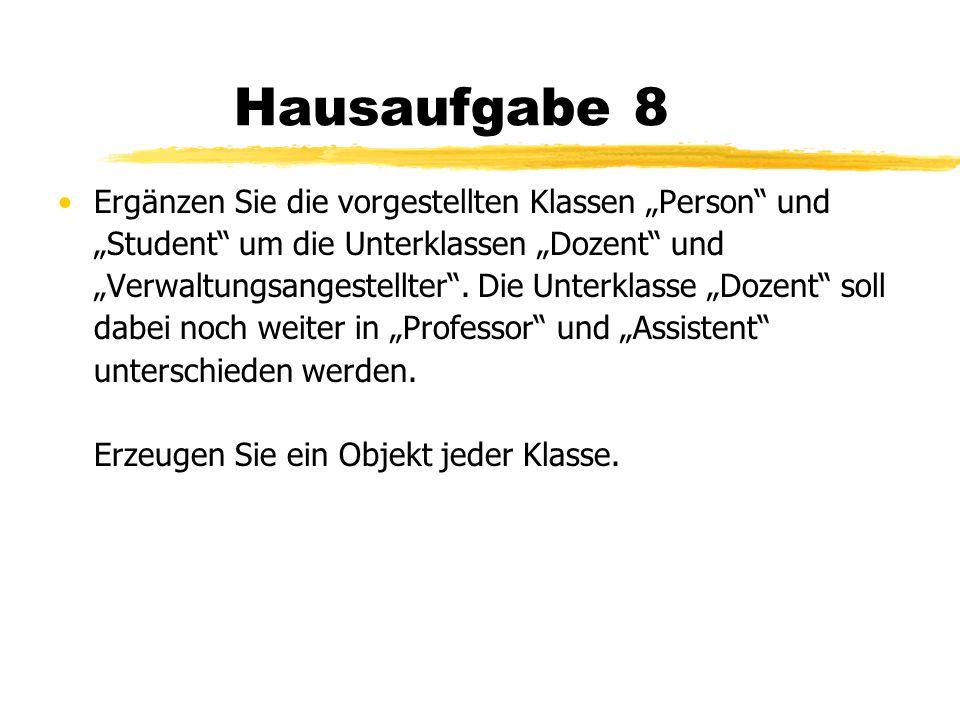 Hausaufgabe 8