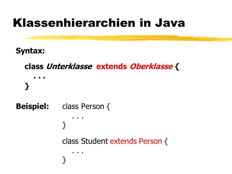 Klassenhierarchien in Java