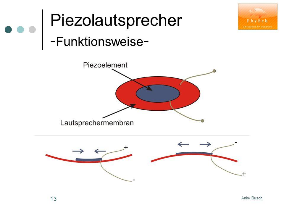 Piezolautsprecher -Funktionsweise-