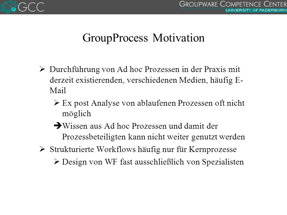 GroupProcess Motivation