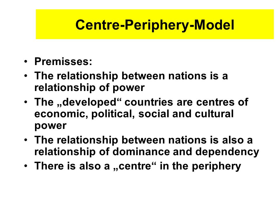 Centre-Periphery-Model