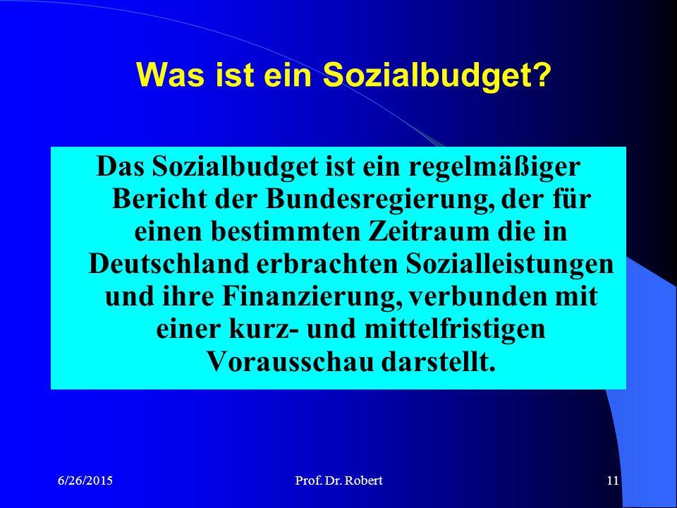 Was ist ein Sozialbudget