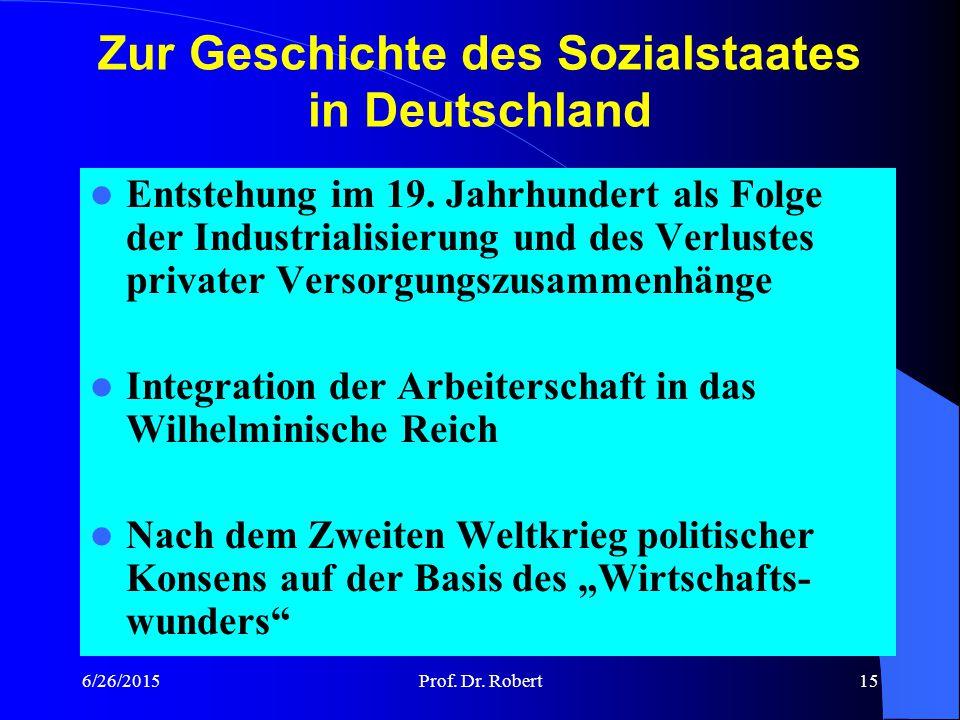 Zur Geschichte des Sozialstaates in Deutschland