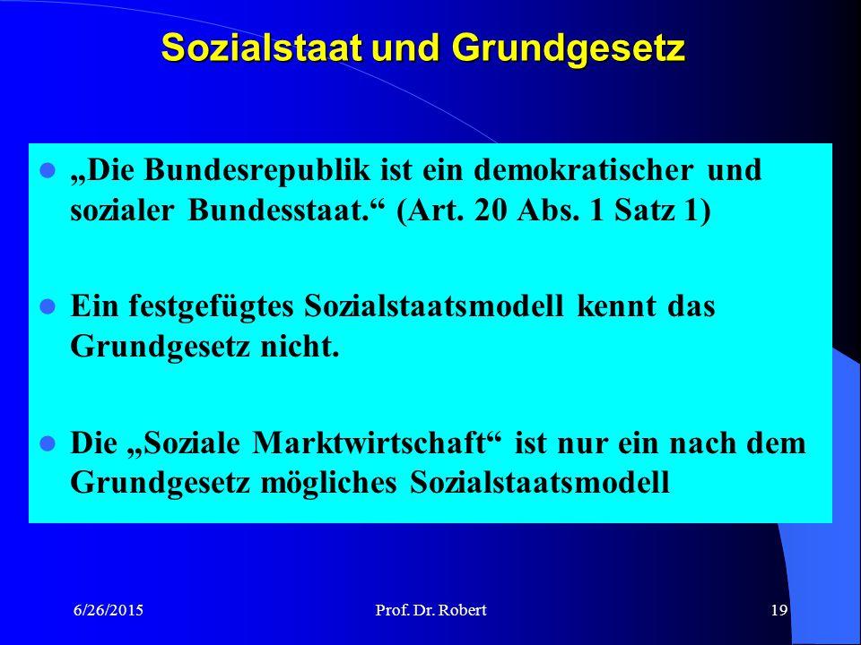 Sozialstaat und Grundgesetz