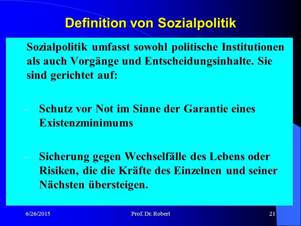 Definition von Sozialpolitik