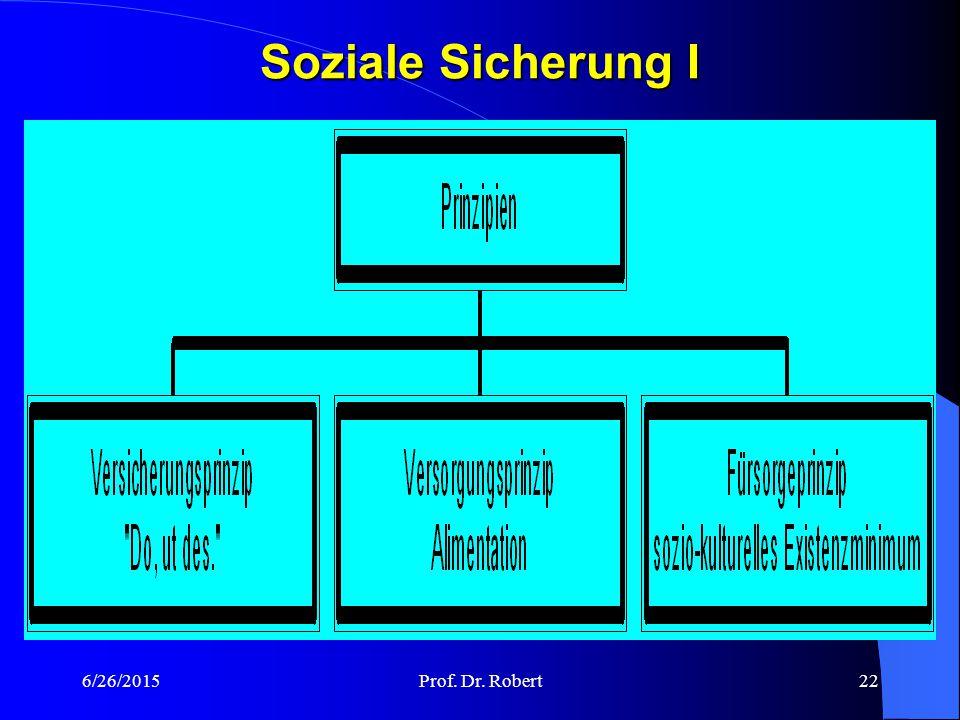 Soziale Sicherung I 4/17/2017 Prof. Dr. Robert