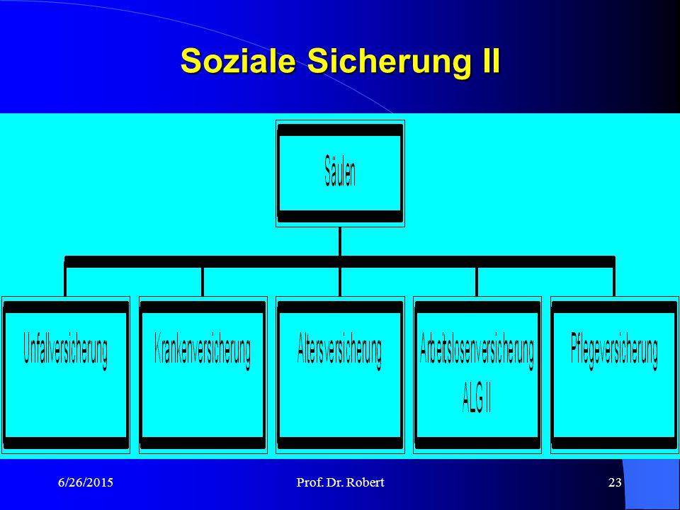Soziale Sicherung II 4/17/2017 Prof. Dr. Robert