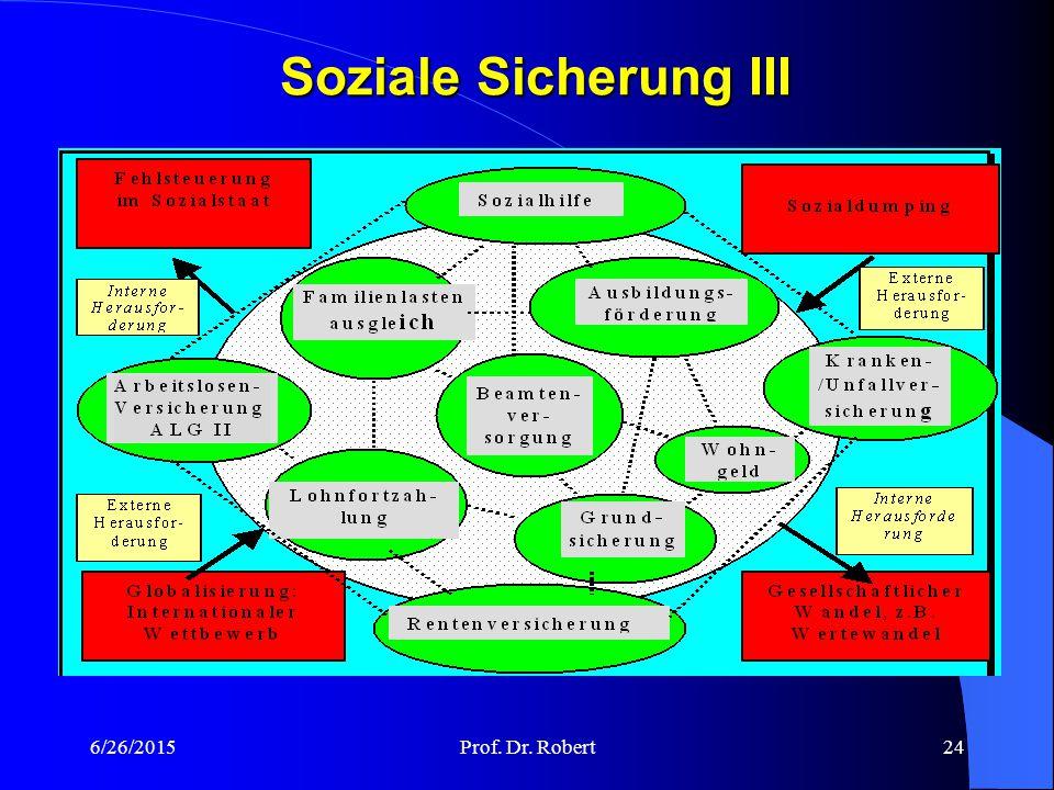 Soziale Sicherung III 4/17/2017 Prof. Dr. Robert