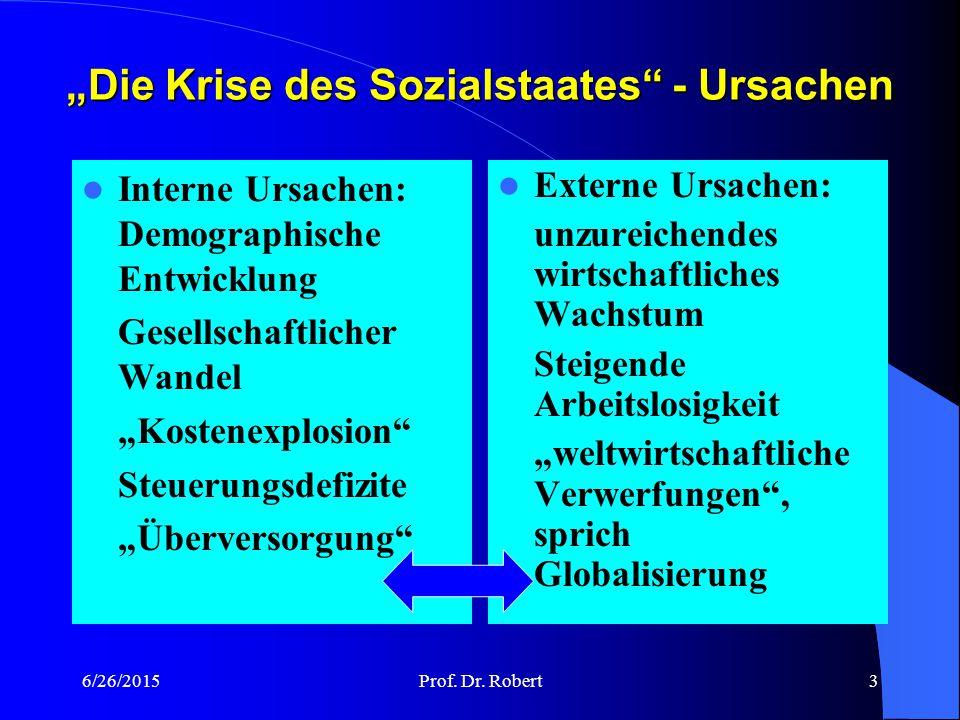 """""""Die Krise des Sozialstaates - Ursachen"""