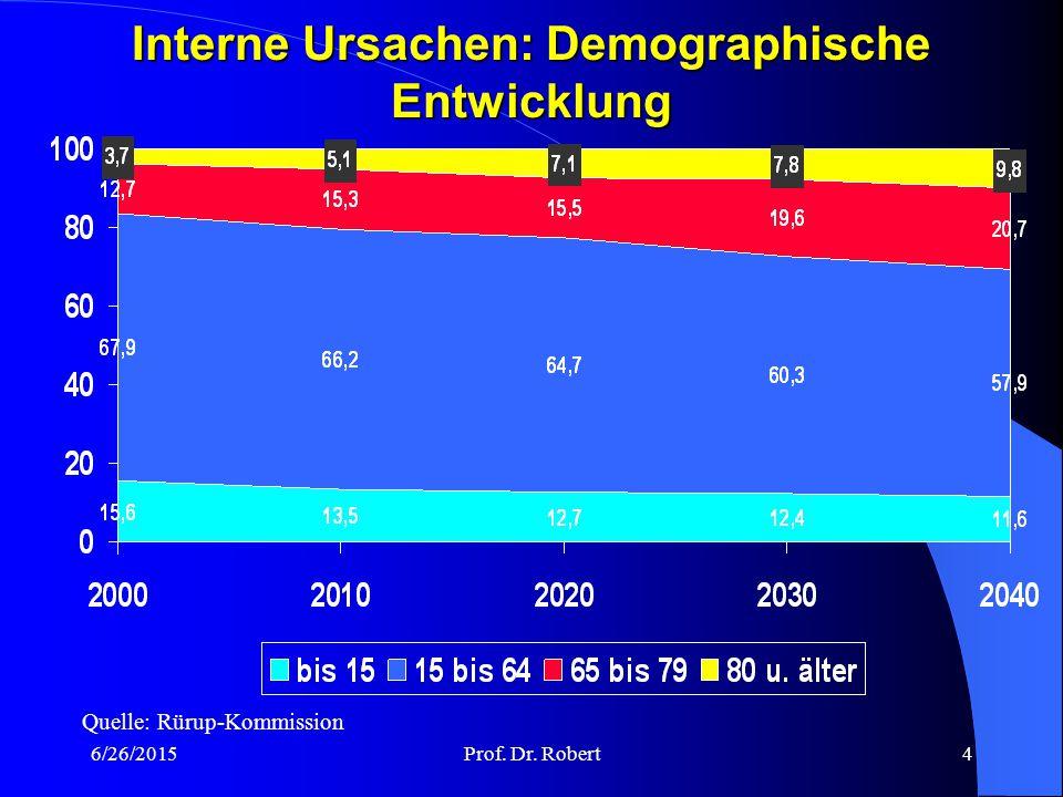 Interne Ursachen: Demographische Entwicklung