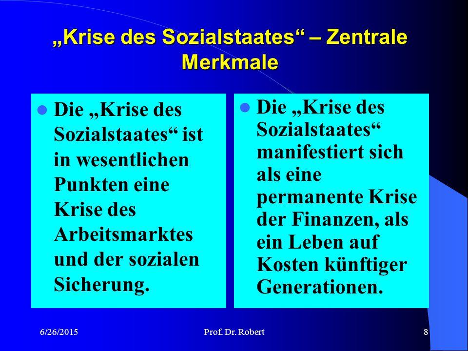 """Krise des Sozialstaates – Zentrale Merkmale"
