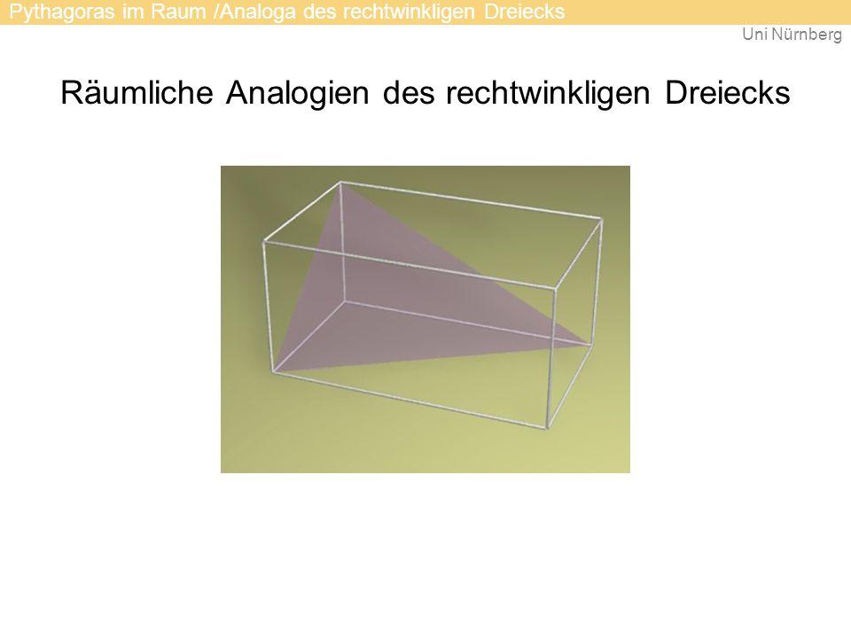 Räumliche Analogien des rechtwinkligen Dreiecks