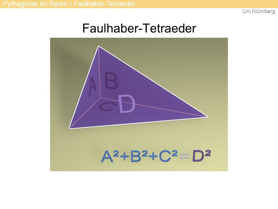 Faulhaber-Tetraeder Pythagoras im Raum / Faulhaber-Tetraeder