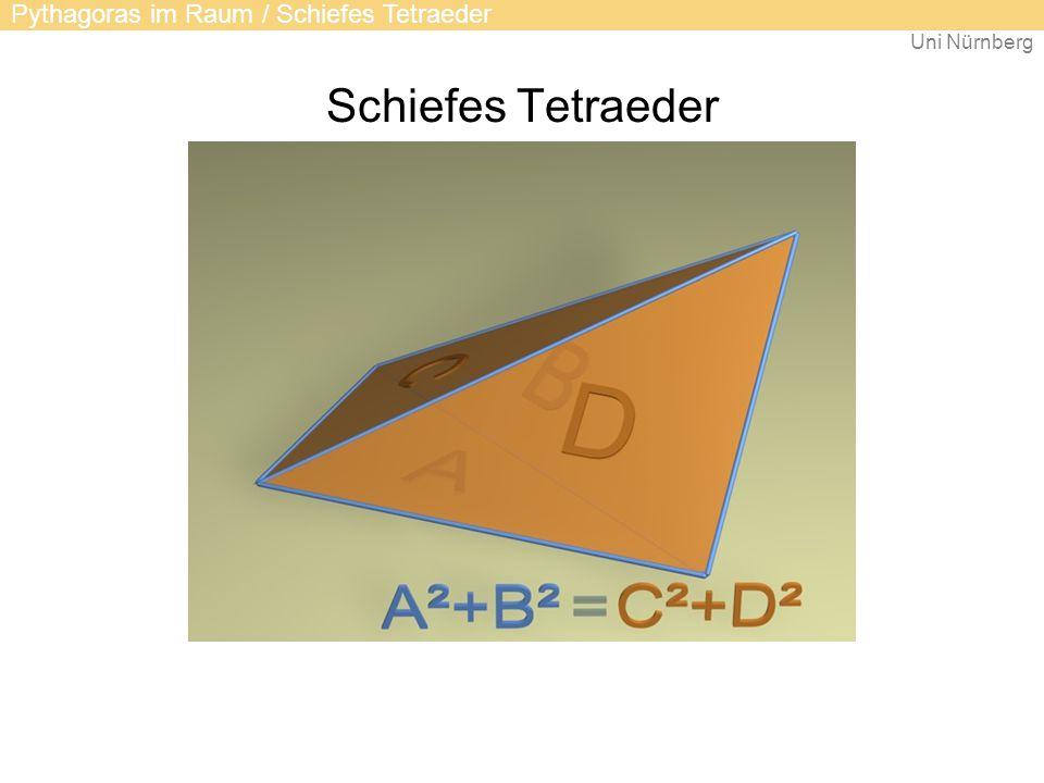 Schiefes Tetraeder Pythagoras im Raum / Schiefes Tetraeder