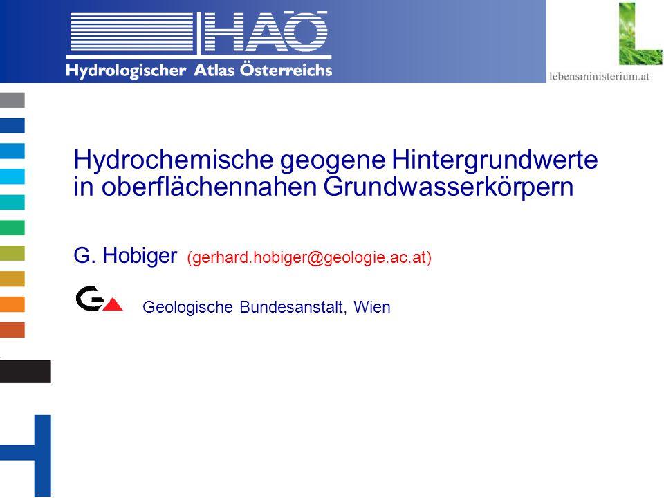 Hydrochemische geogene Hintergrundwerte in oberflächennahen Grundwasserkörpern