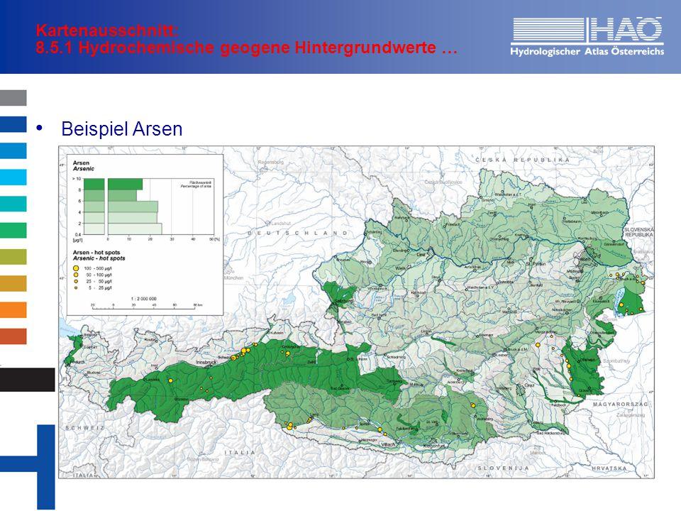 Kartenausschnitt: 8.5.1 Hydrochemische geogene Hintergrundwerte …