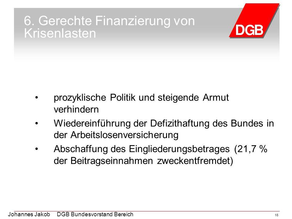 6. Gerechte Finanzierung von Krisenlasten