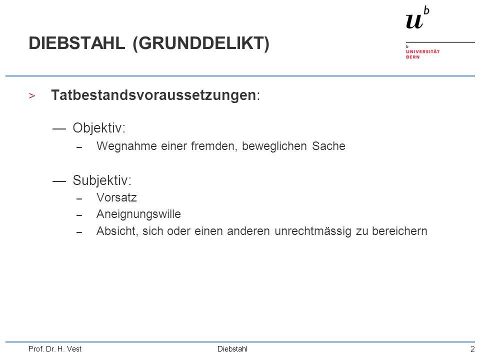 DIEBSTAHL (GRUNDDELIKT)