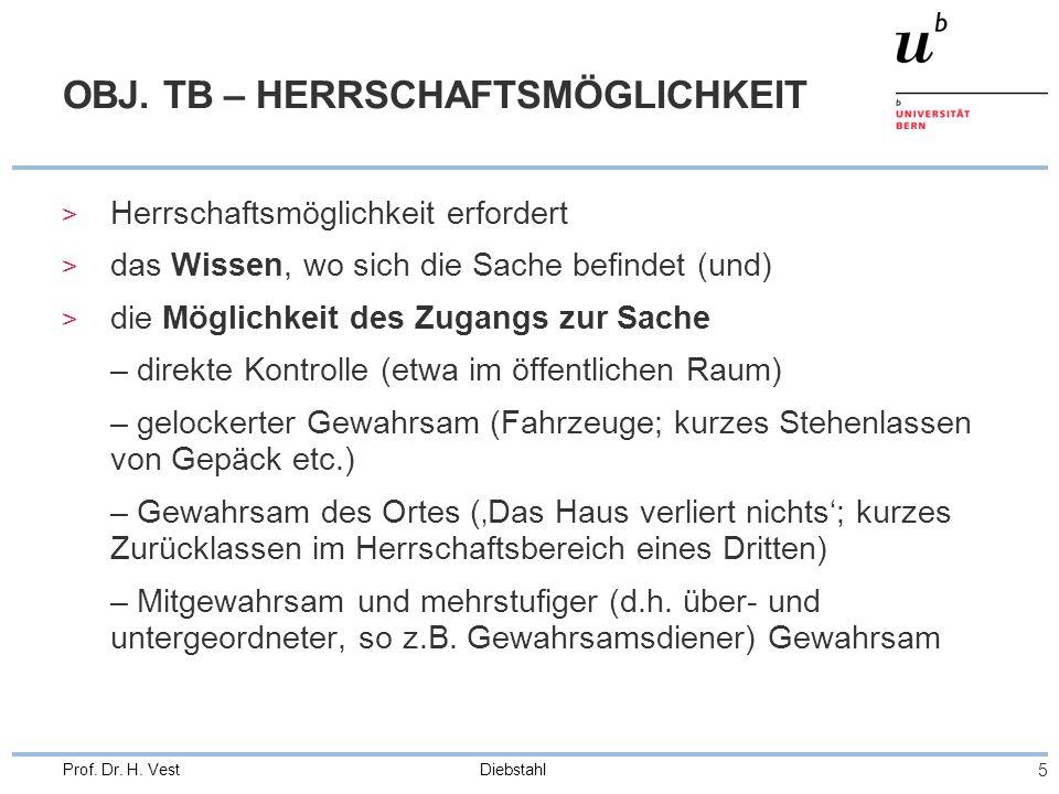 OBJ. TB – HERRSCHAFTSMÖGLICHKEIT