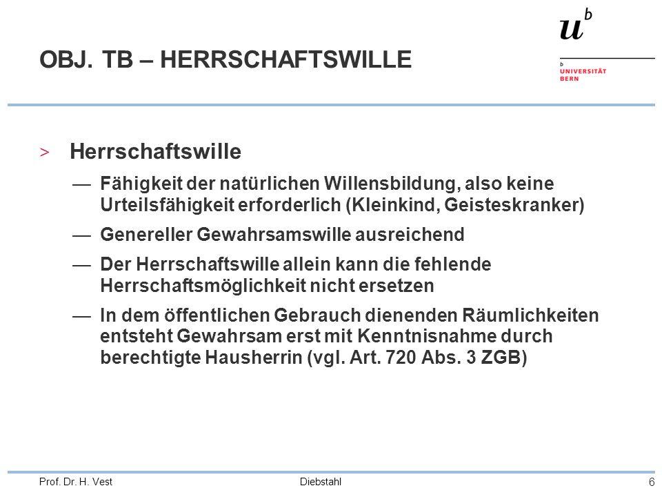 OBJ. TB – HERRSCHAFTSWILLE
