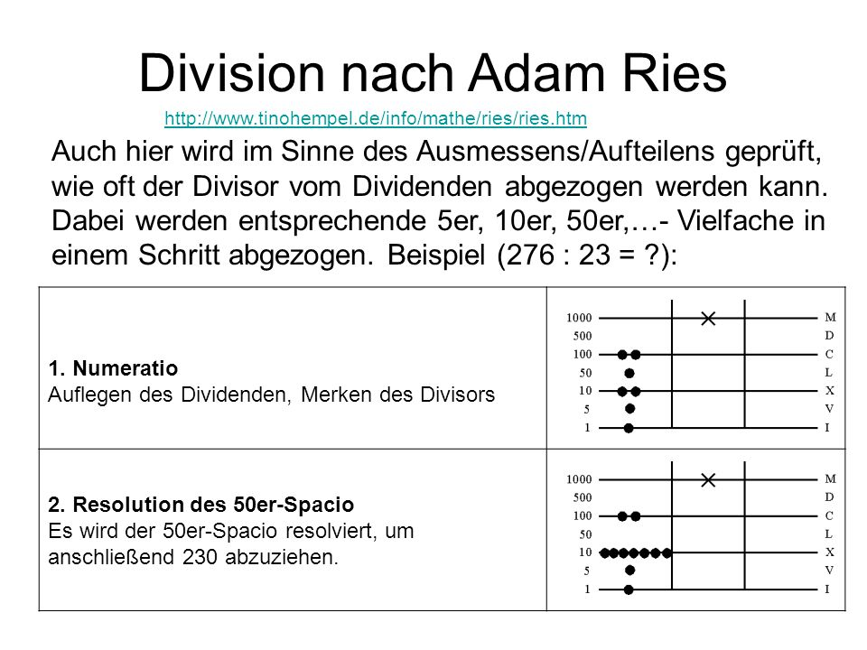 Division nach Adam Ries