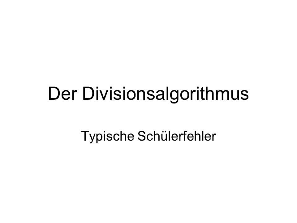 Der Divisionsalgorithmus