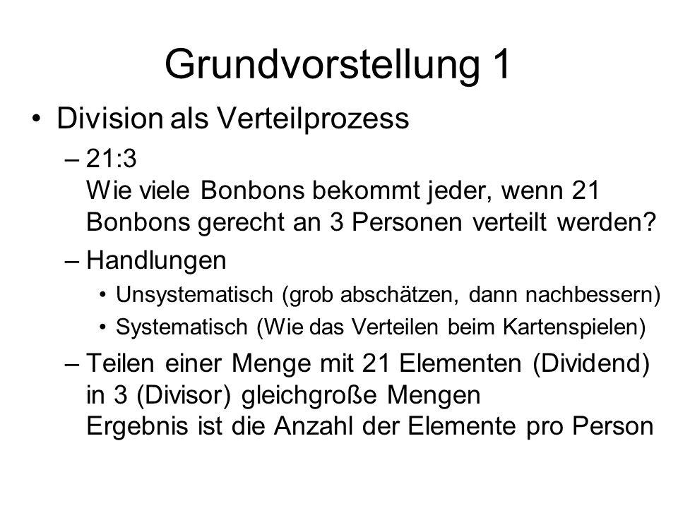 Grundvorstellung 1 Division als Verteilprozess