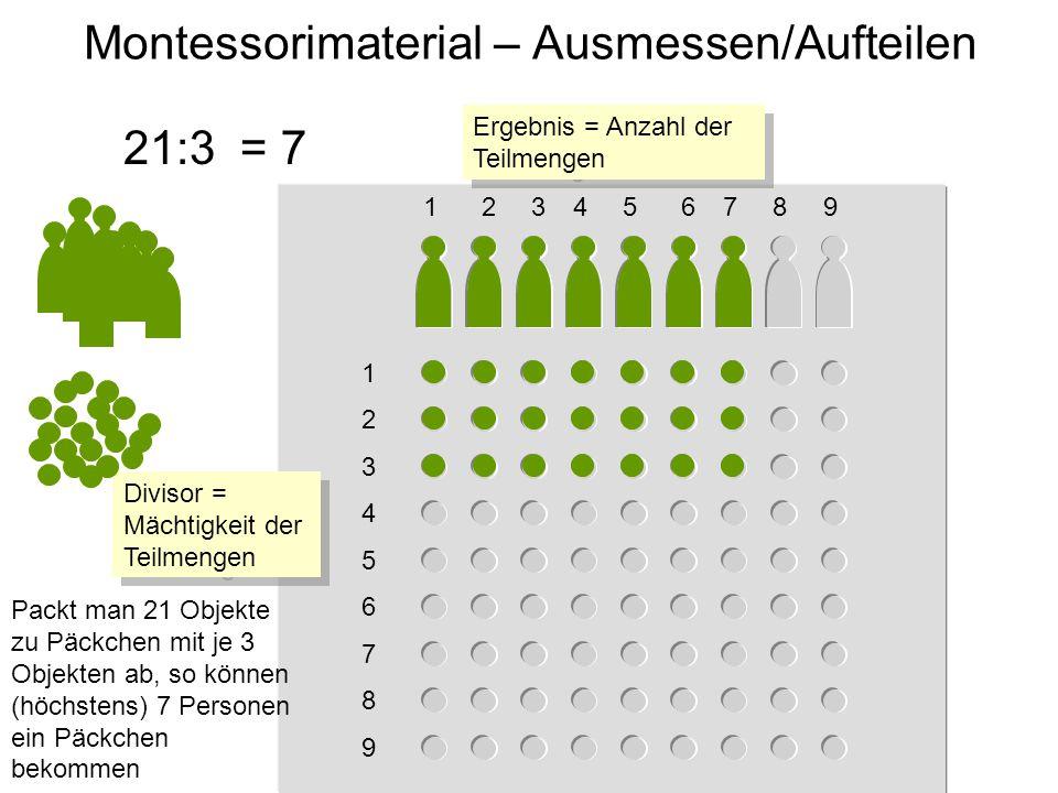 Montessorimaterial – Ausmessen/Aufteilen