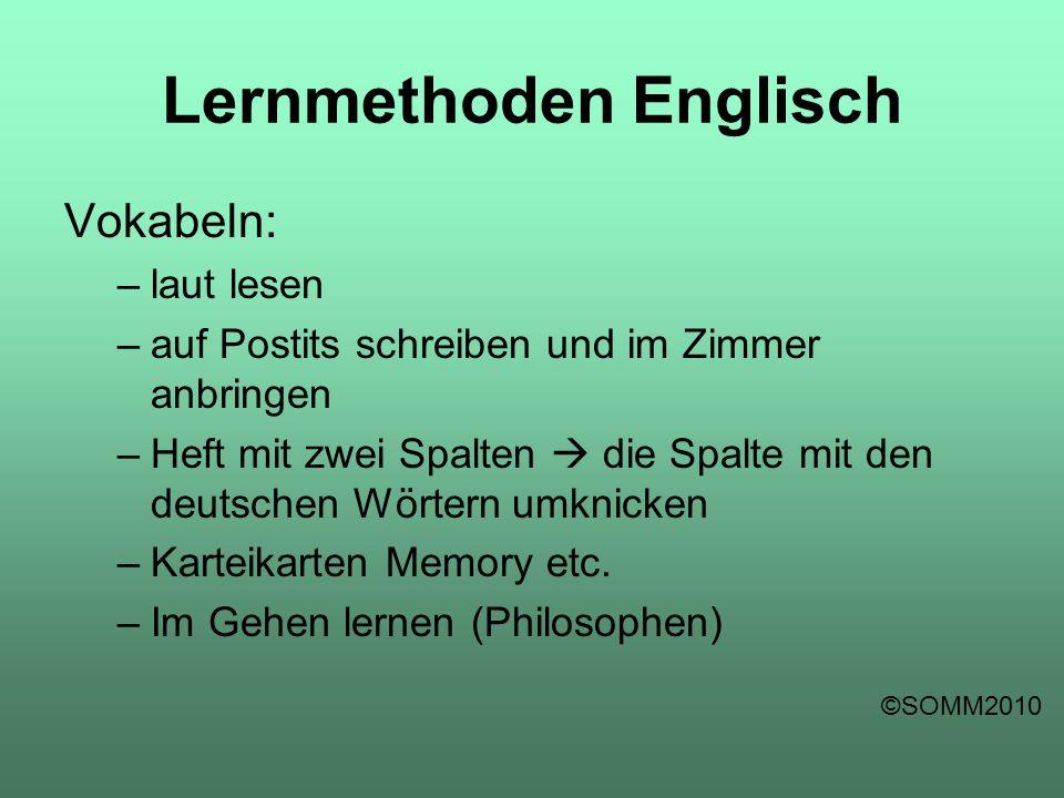 Lernmethoden Englisch
