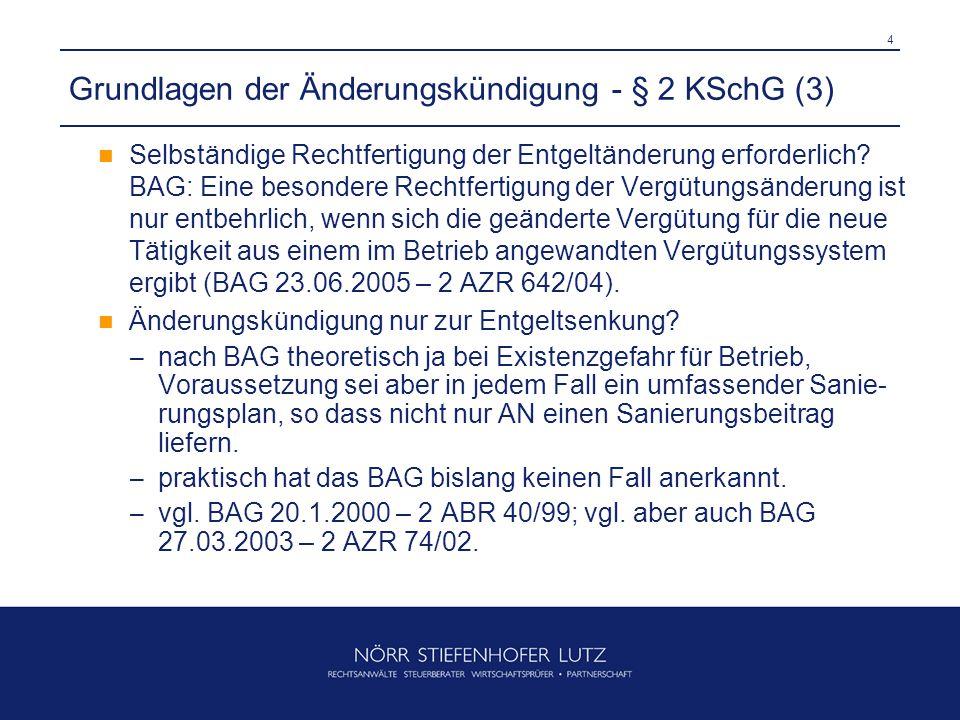 Grundlagen der Änderungskündigung - § 2 KSchG (3)