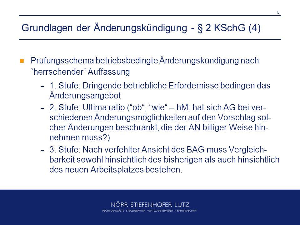 Grundlagen der Änderungskündigung - § 2 KSchG (4)