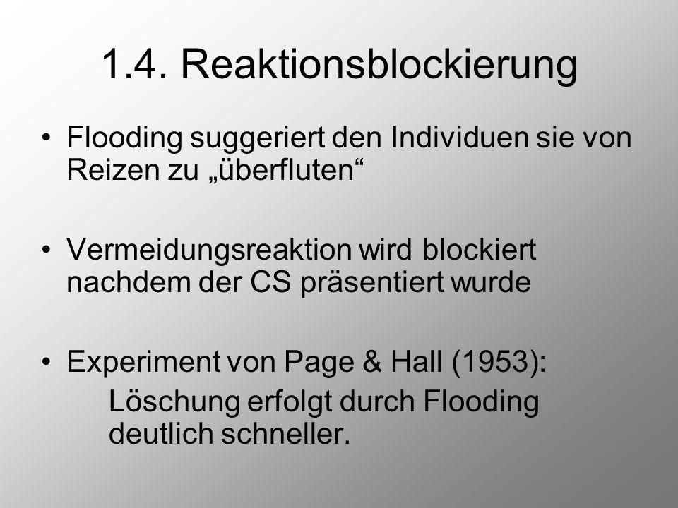 1.4. Reaktionsblockierung