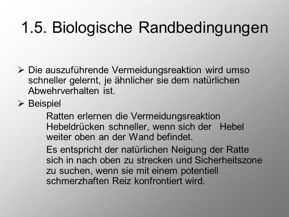 1.5. Biologische Randbedingungen