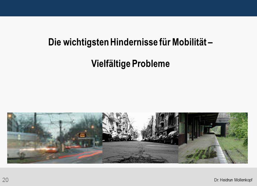 Die wichtigsten Hindernisse für Mobilität –