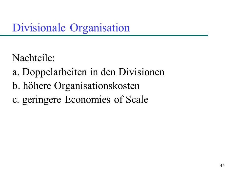 Divisionale Organisation