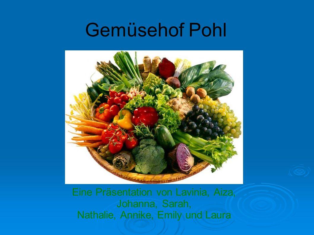 Gemüsehof Pohl Eine Präsentation von Lavinia, Aiza, Johanna, Sarah,