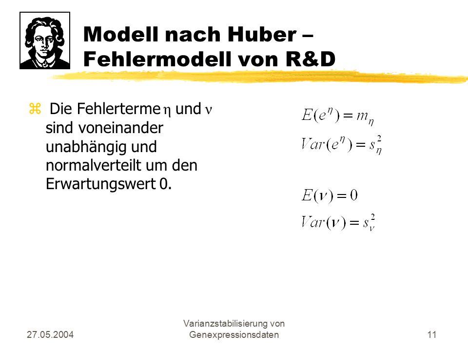 Modell nach Huber – Fehlermodell von R&D