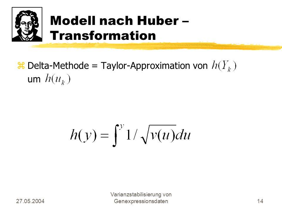 Modell nach Huber – Transformation