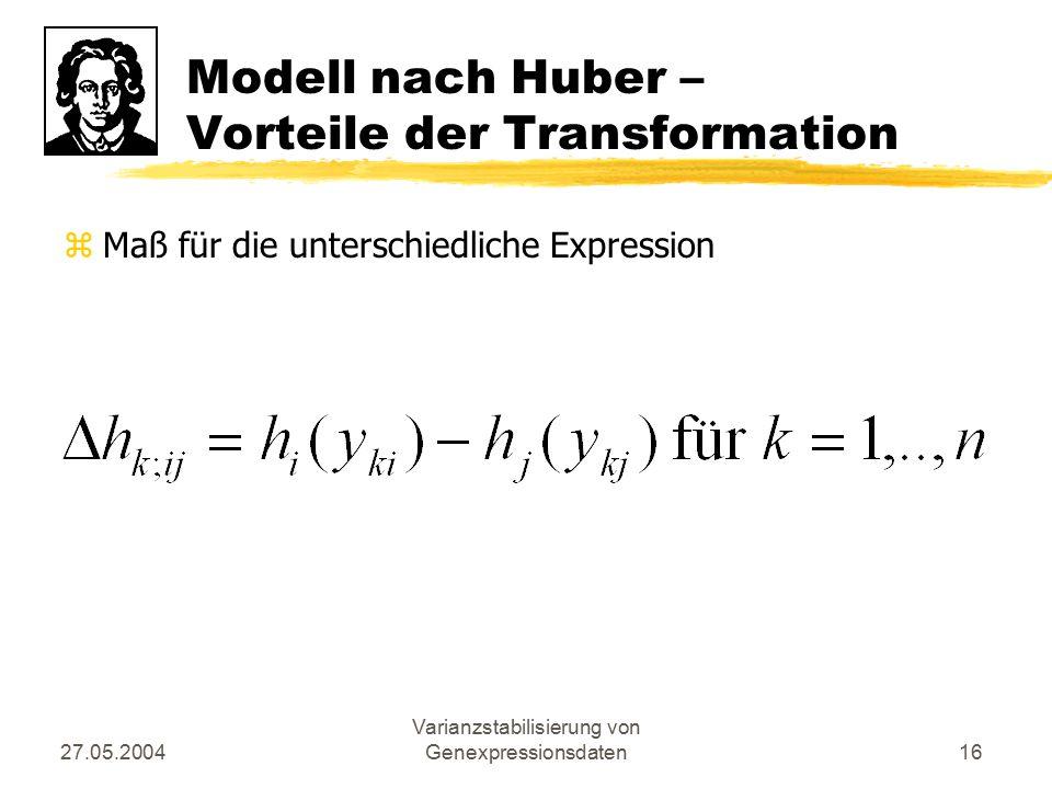 Modell nach Huber – Vorteile der Transformation