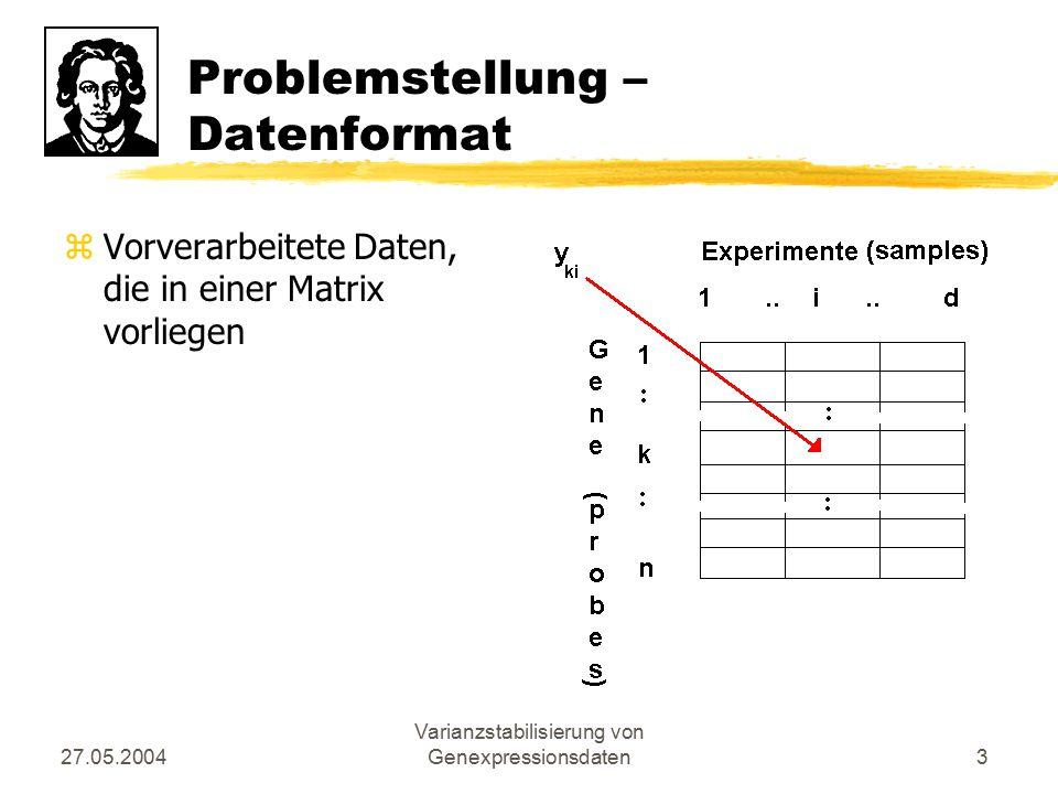 Problemstellung – Datenformat