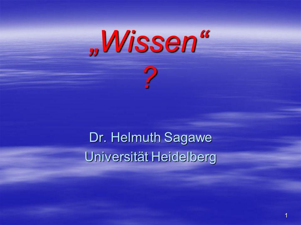 Dr. Helmuth Sagawe Universität Heidelberg